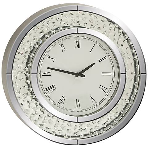 "Cielo Mirrored 20"" Round Wall Clock"