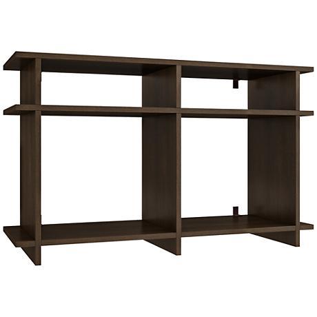 Wellington Tobacco Wood 4-Shelf TV Stand