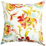 "Jubilee Multi-Color 22"" Square Indoor-Outdoor Pillow"