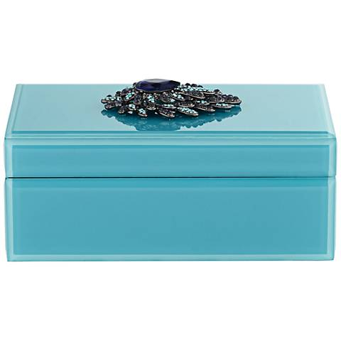 Plumage Teal Rectangular Jewelry Box