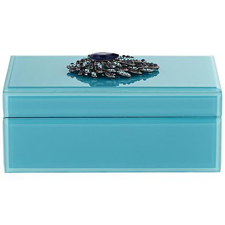 Plumage Teal Rectangular Jewelry Box