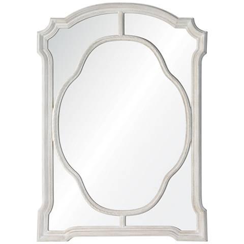 "Cooper Classics Clove Chalky White 32 1/2""x49"" Wall Mirror"