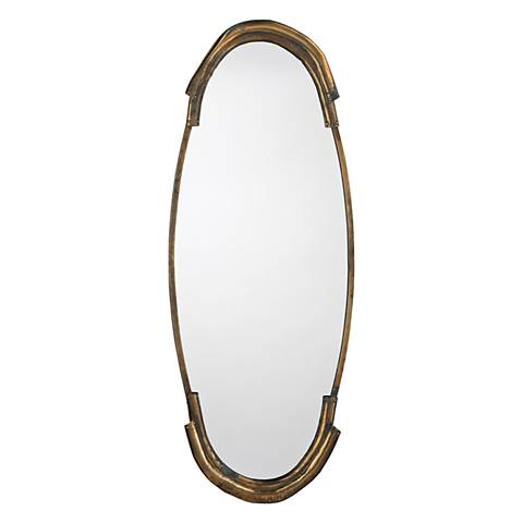 """Jamie Young Margaux Aged Brass 17""""x45"""" Wall Mirror"""