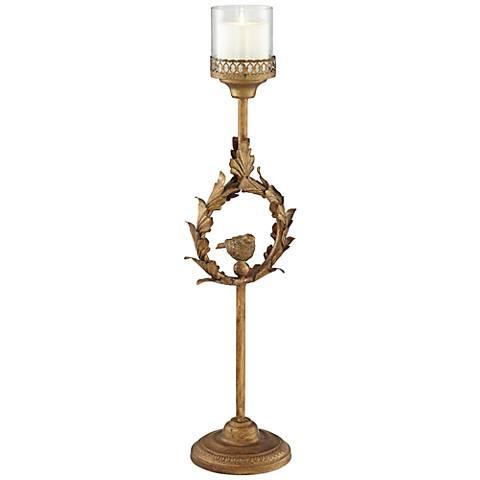 Olympian Gold Medium Pillar Candle Holder