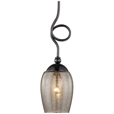 "Varaluz Emma 5"" Wide Black Chrome Mini Pendant"