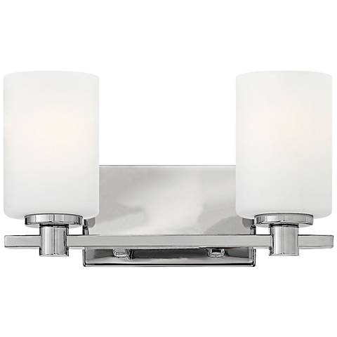 "Hinkley Karlie 7 1/2"" High Chrome 2-Light Wall Sconce"