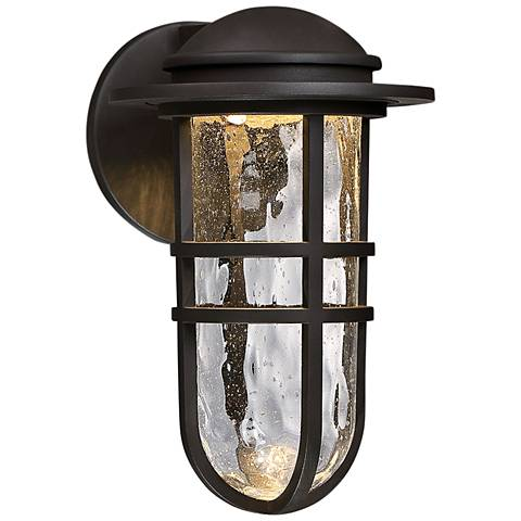 "dweLED Steampunk 13"" High Bronze LED Outdoor Wall Light"