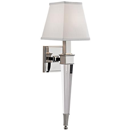 """Hudson Valley Ruskin 20 1/2""""H Polished Nickel Wall Sconce"""