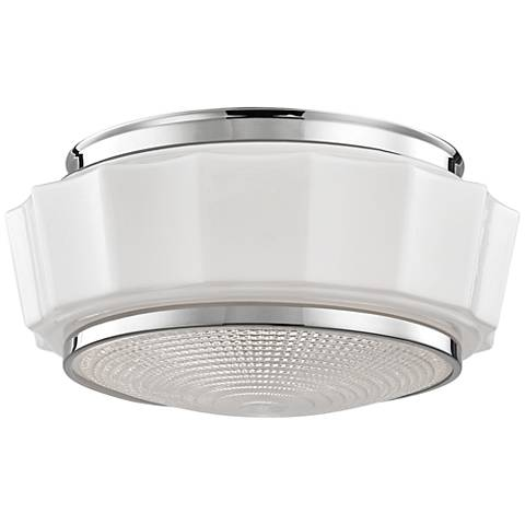 "Hudson Valley Odessa 13 1/2"" Polished Nickel Ceiling Light"