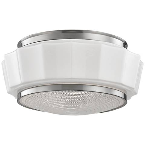 "Hudson Valley Odessa 13 1/2"" Wide Satin Nickel Ceiling Light"