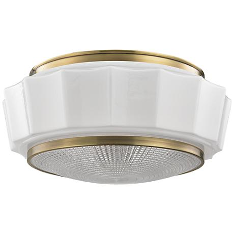 "Hudson Valley Odessa 16 1/4"" Wide Aged Brass Ceiling Light"
