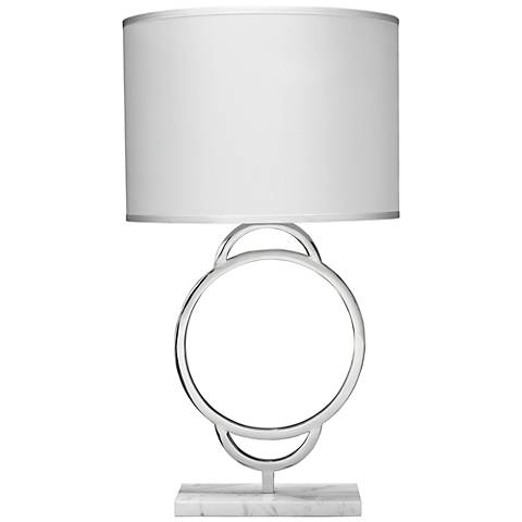 Jamie Young Arc Limestone Nickel Metal Table Lamp