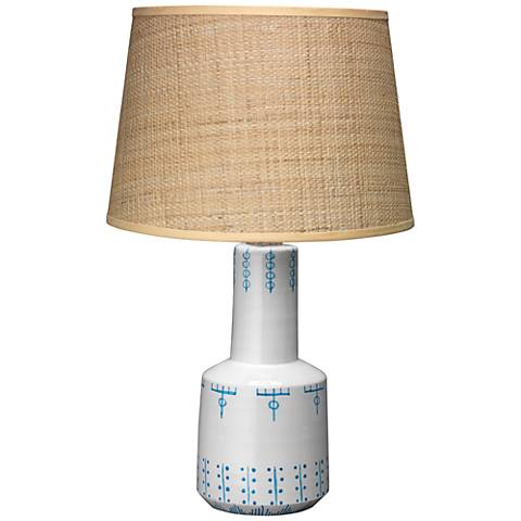 Jamie Young Berber Tribal Tattoo White Ceramic Table Lamp