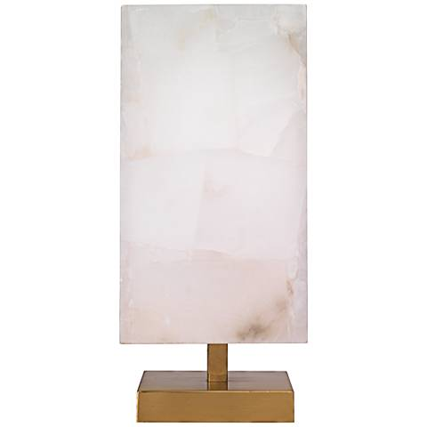 Jamie Young Ghost Axis Tall Pearl Alabaster Table Lamp