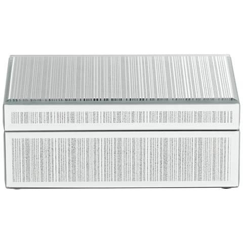 Mathieu Silver Large Mirrored Decorative Box