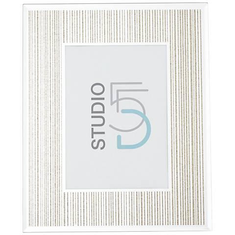 Mathieu Gold Silk Screen 5x7 Photo Frame