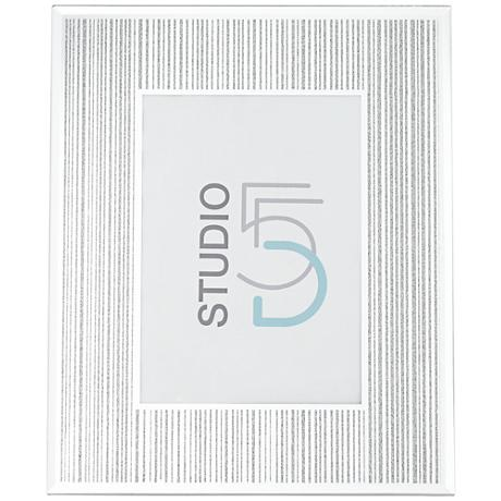 Mathieu Silver Silk Screen 5x7 Photo Frame