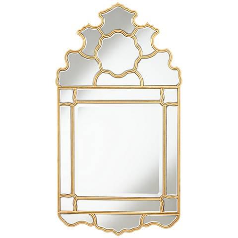 """Weiser Antique Gold Leaf 25 1/2""""x47"""" Crown Top Mirror"""