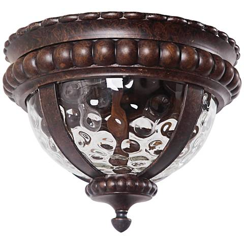 "Prescott 14"" Wide Bronze Outdoor Ceiling Light"