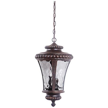 """Prescott 21 3/4""""H Bronze Outdoor Hanging Light"""