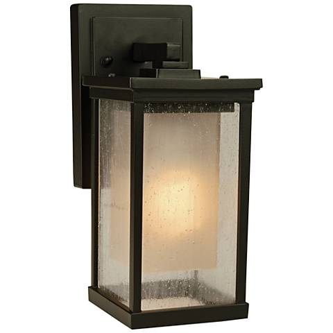 "Riviera 11 1/4""H Oil Bronze Outdoor Wall Light"