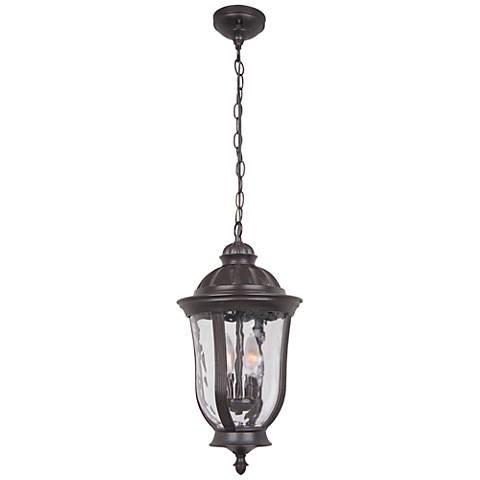 "Frances 18 1/2""H Bronze Hanging Outdoor Light"