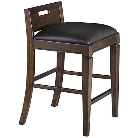 Pine Hill Rustic Pine Wood Counter Height Desk Chair