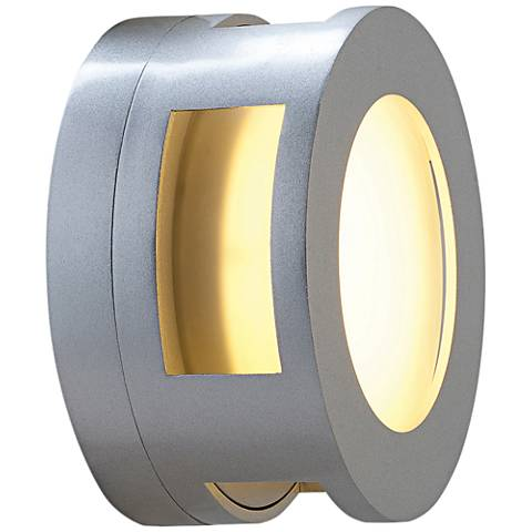 """Nymph 6 1/2"""" High Satin LED Outdoor Wall Light"""