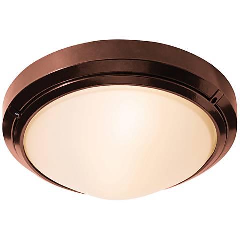 "Oceanus 12"" Wide Bronze LED Outdoor Ceiling Light"