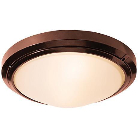 "Oceanus 15 3/4"" Wide Bronze LED Outdoor Ceiling Light"