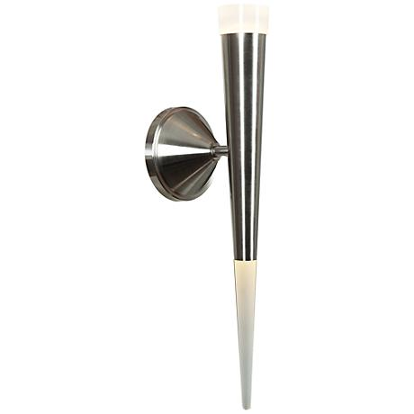 """Ra 17 1/2"""" High Brushed Steel LED Wall Sconce"""