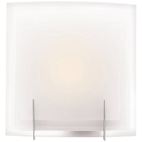 "Nitrous 12"" High Brushed Steel CFL Wall Sconce"