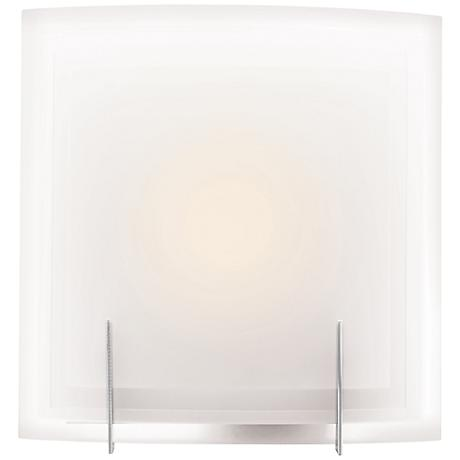 """Nitrous 12"""" High Brushed Steel CFL Wall Sconce"""