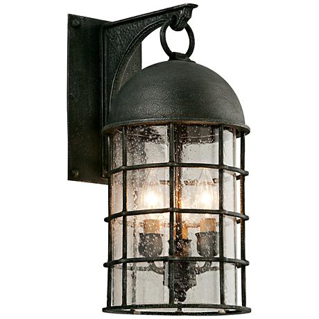 """Charlemagne 18"""" High Aged Pewter Outdoor Wall Light"""