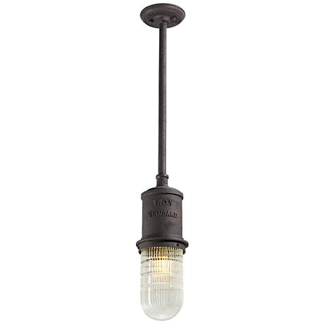 Dock street 5 1 2 w centennial rust outdoor hanging light for Simple suspension hanging