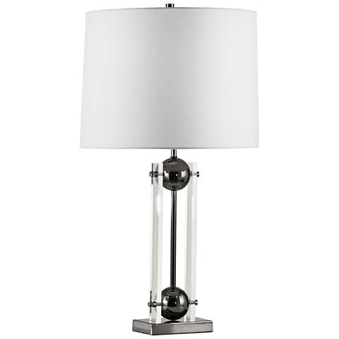 Nova Barbeto Black Nickel and Clear Acrylic Table Lamp