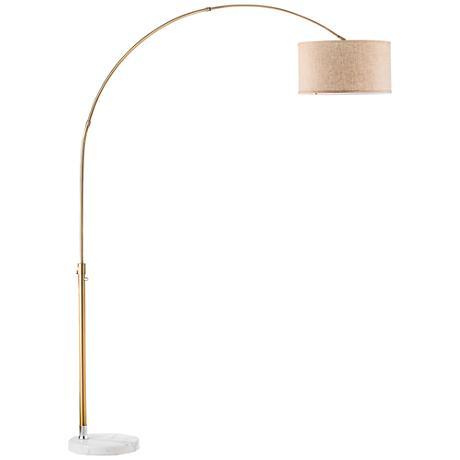 Nova Float Rose Gold Arc Floor Lamp