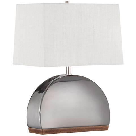 "Nova 19 1/4""H Media Luna Gun Metal Ceramic Accent Table Lamp"