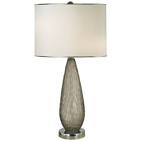 Thumprints Luxor Gray Blown Glass Table Lamp