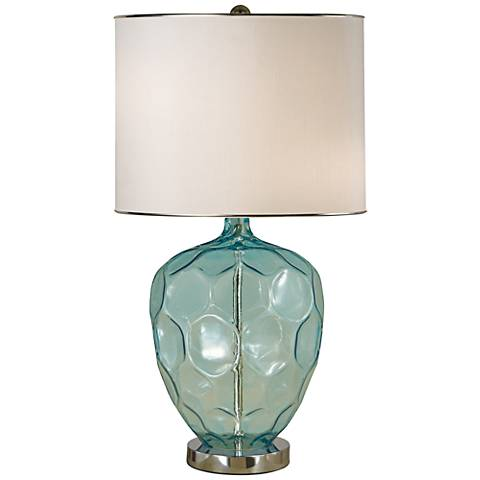 abyss turquoise blown glass table lamp 1m022 lamps plus. Black Bedroom Furniture Sets. Home Design Ideas