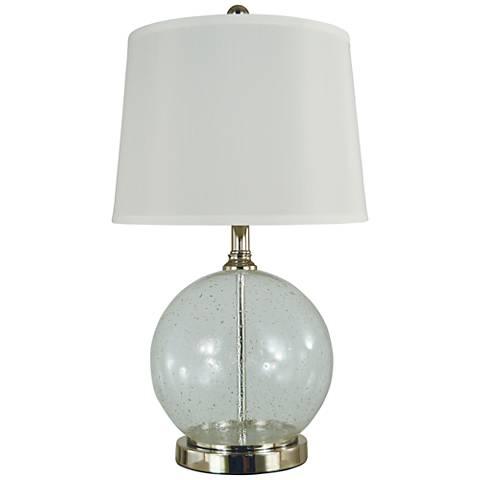 Thumprints Karat Seeded Blown Glass Table Lamp
