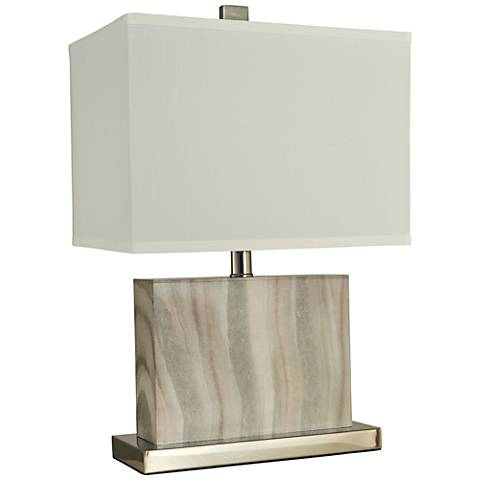 """Thumprints 20""""H Dune Alabaster Accent Table Lamp"""