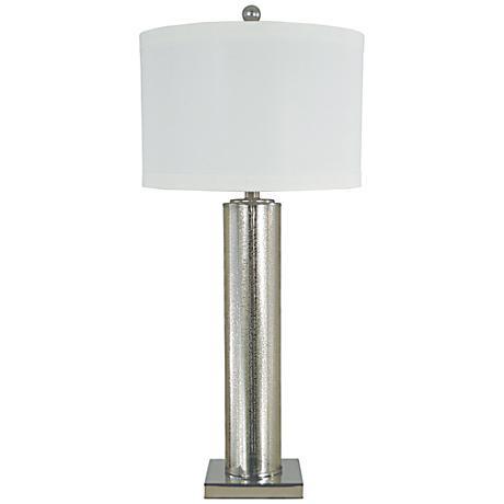 Thumprints Genesis Mercury Glass Table Lamp 1m040