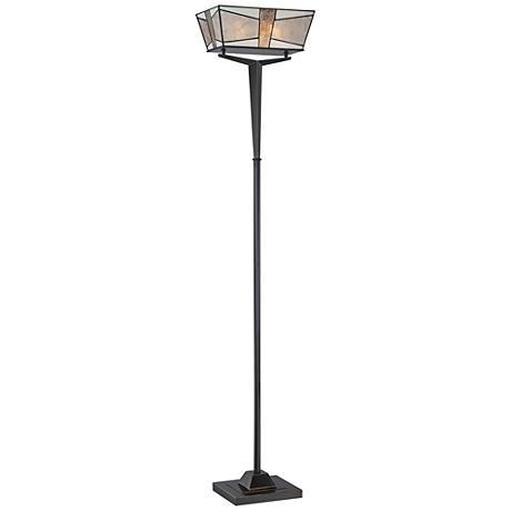 Quoizel Alistar Imperial Bronze Torchiere Floor Lamp
