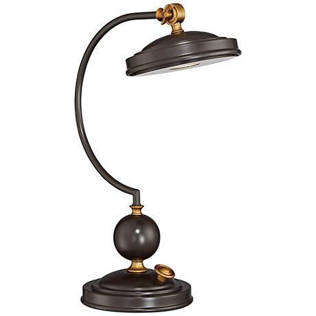 Quoizel Marx LED Western Bronze Swivel Desk Lamp