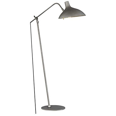 Quoizel Westway Silver Patina Adjustable Task Floor Lamp