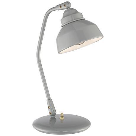 Quoizel Studio Gray Patina Steel Reading Desk Lamp