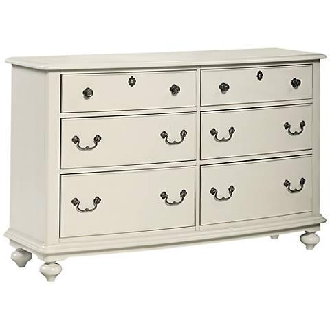 Inspirations Seashell White 6-Drawer Dresser
