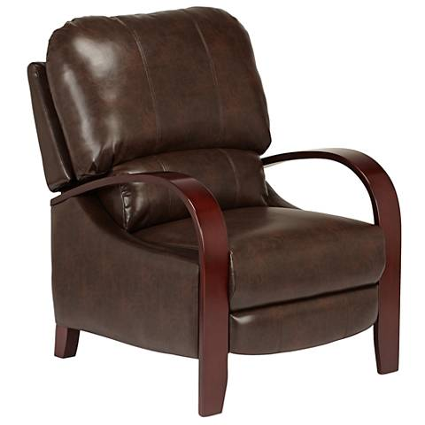 Cooper Norse Chestnut Bonded Leather 3-Way Recliner Chair