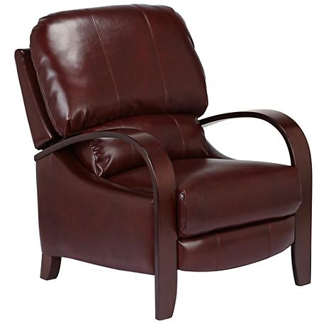 Cooper Fairview Rouge Bonded Leather 3-Way Recliner Chair